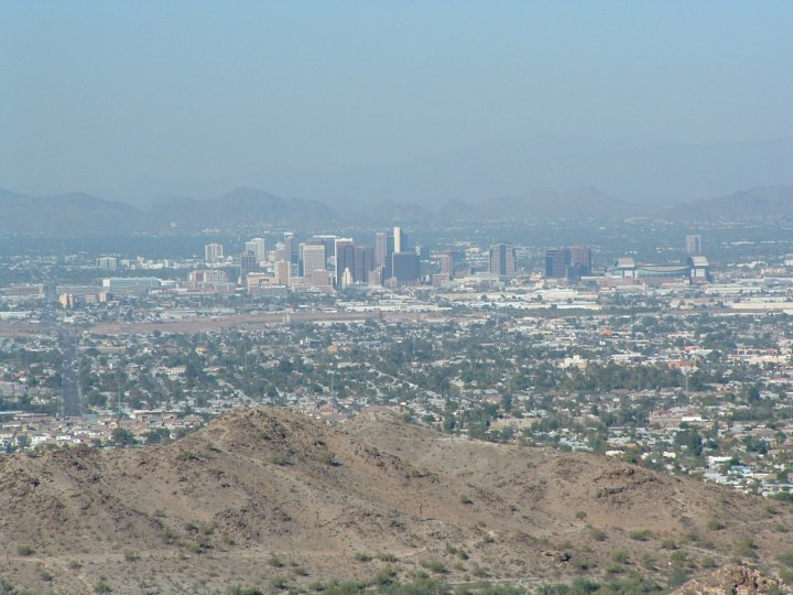 Phoenix from South Mountain State Park. (Monte Dutton)